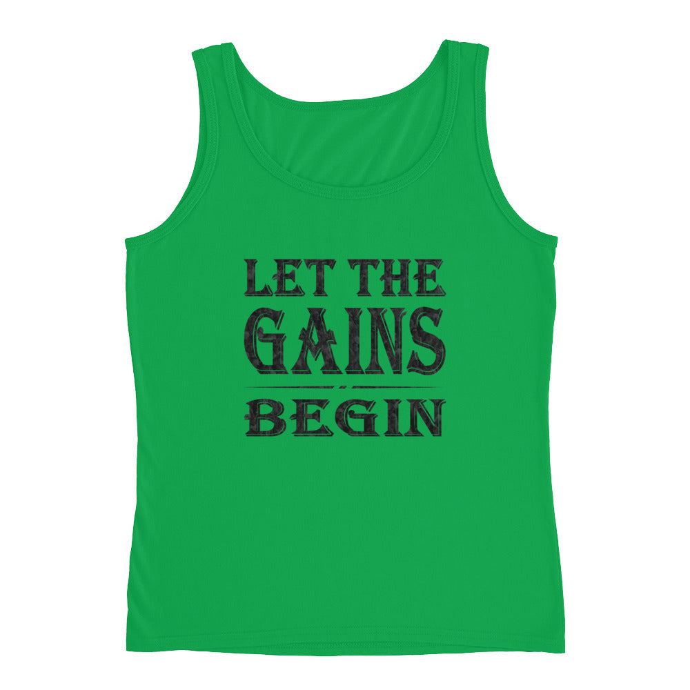 LET THE GAINS BEGIN Women's Tank Top