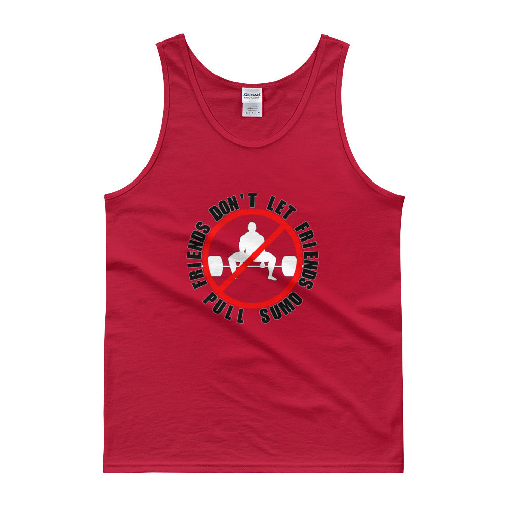 FRIENDS DON'T LET FRIENDS PULL SUMO Men's Tank Top