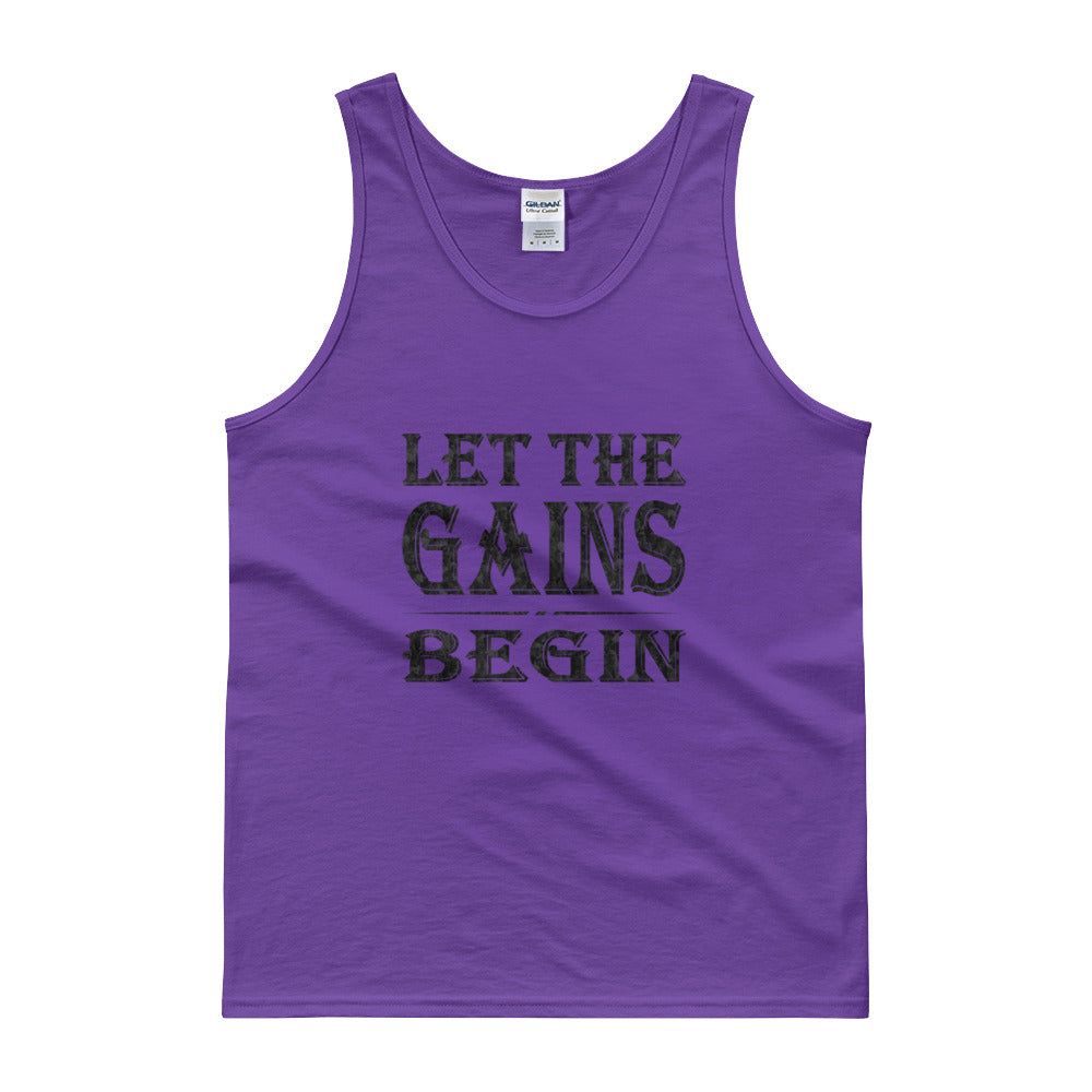 LET THE GAINS BEGIN Men's Tank Top