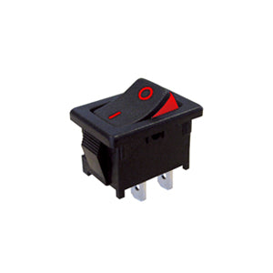 Interruptor Basculante Rectangular Mini 10A, 19mm x 13mm