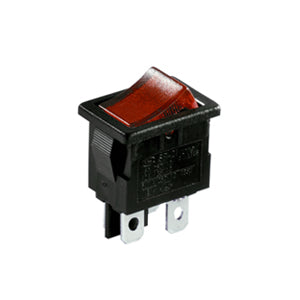 Interruptor Basculante Rectangular Iluminado Mini 13A Rojo, 19mm x 13mm