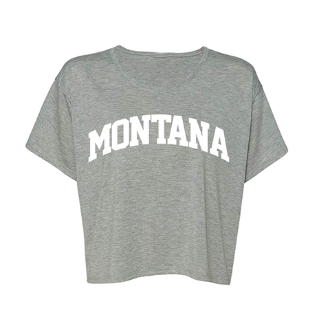 Grey Montana Crop Tee + Digital Album