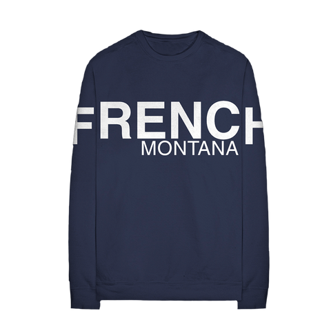 Navy French Montana Long Sleeve + Digital Album