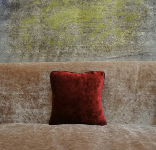 GARNET RED VELVET CUSHION