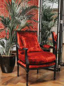 GARNET RED BERGERE CHAIR