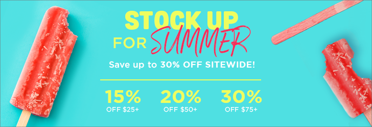 Stock up for Summer Memorial Day Sale