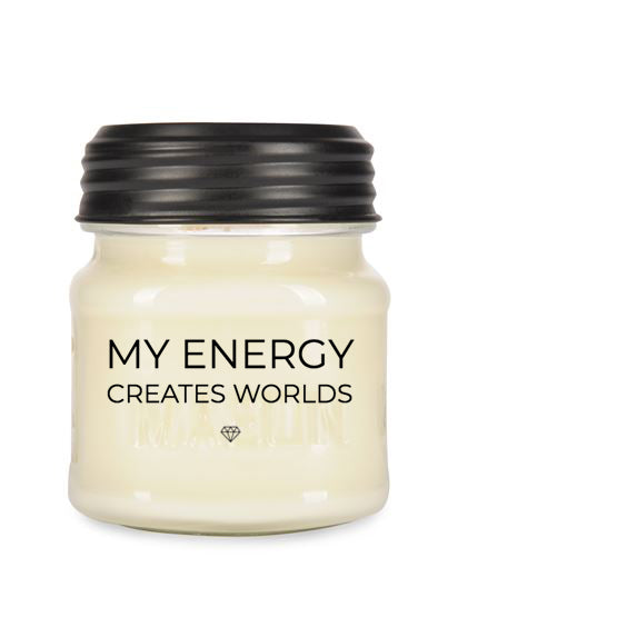 My Energy Creates Worlds Candle - 8oz Mason Jar