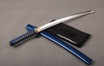 Blue Wakazashi - 1060 Carbon Steel