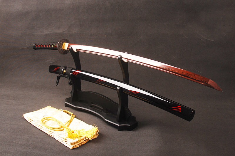 The Red Dragon - Damascus Steel Katana