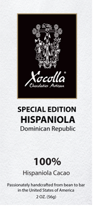 Single Origin Dark Chocolate - Hispaniola 100%