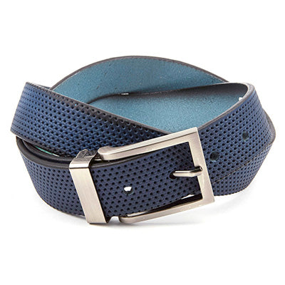 Perforated Belt - Blue Denim