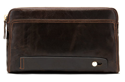 Men's Wristlet - Dark Coffee Brown