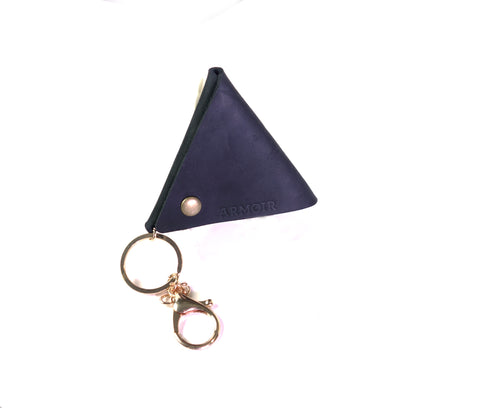 Triangle leather pouch
