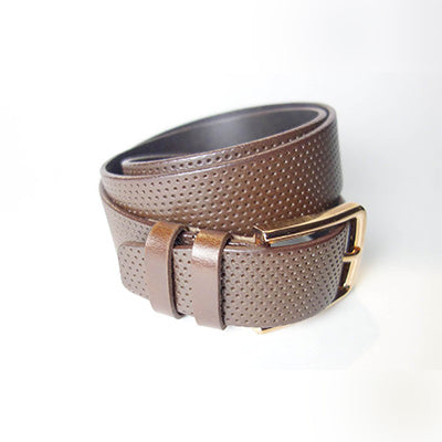 Perforated Belt - Brown