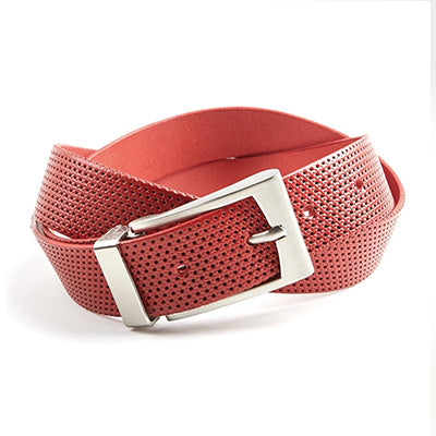 Perforated Belt - Red