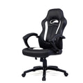 Black Leather Race Style Gaming Chair