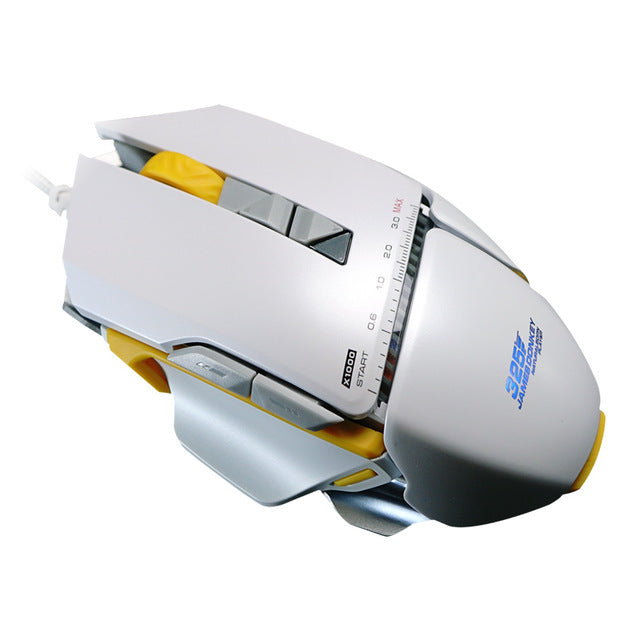 LED Backlit Gaming Mouse - White