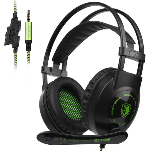 SADES SA801 Stereo Gaming Headset Game Headphone casque 3.5mm Wired with Mic Volume Control for Xbox One PS4 Laptop PC Gamer