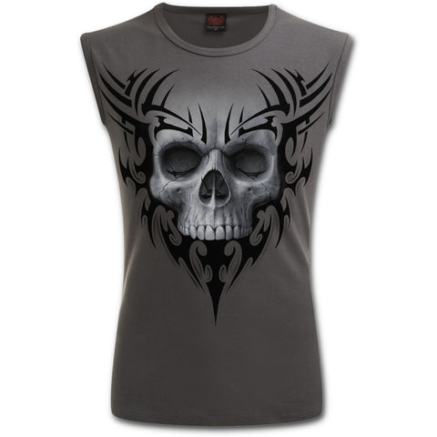 Skulls Rock Goth Vixen Tattoo Spiral DEAD HAND Boat Neck Bat Sleeve Top