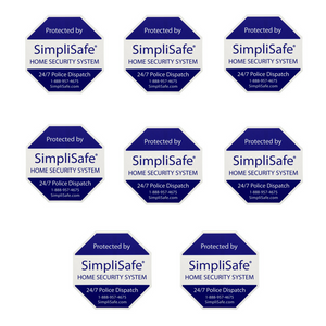8 SimpliSafe Security Stickers Great for Windows and doors.