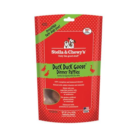 Stella & Chewy's Duck Duck Goose Dinner 3 lbs of 1.5 oz patties for Dogs