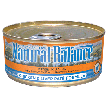Natural Balance' Ultra Premium Chicken and Liver Pate Canned Formula 24 x 5.5 oz