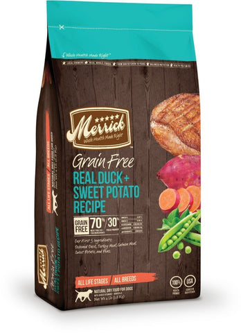 Merrick Grain-Free Real Duck and Sweet Potato  25 lbs. bag