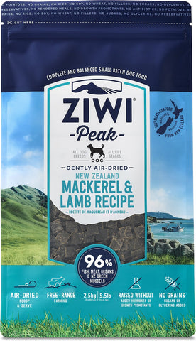 ZiwiPeak Air Dried Mackerel and Lamb - Naturally Urban Pet Food Delivery