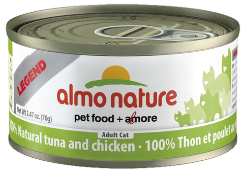 Almo Nature 100% Natural Tuna with Chicken 24 x 70g