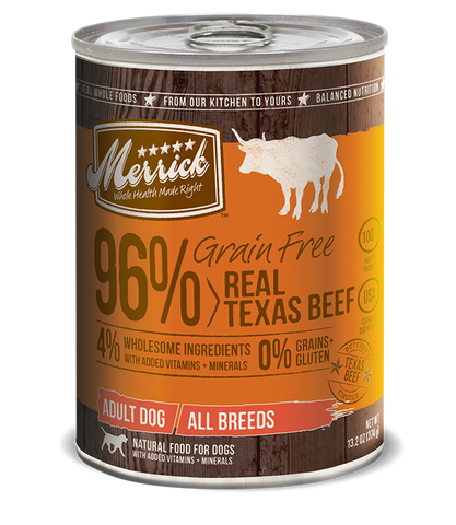 Merrick Grain Free 96% Real Texas Beef 12 x 13.2 Oz Cans