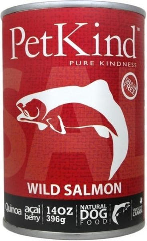 Petkind Wild Salmon 12 x 14oz cans for dogs