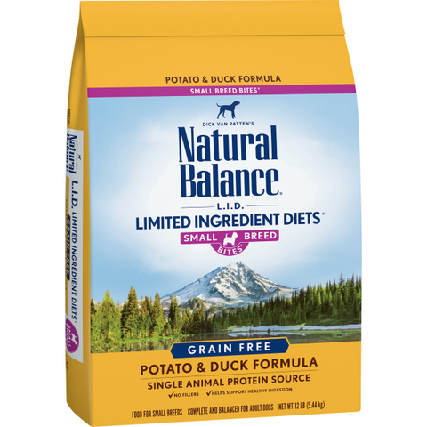 Natural Balance Potato & Duck Dry Formula  12lbs. bag