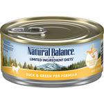 Natural Balance' L.I.D. Limited Ingredients Diets Duck & Green Pea Canned Formula 24 x 5.5 oz cans
