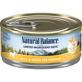 Natural Balance' L.I.D. Limited Ingredients Diets Duck & Green Pea Canned Formula 24 x 5.5 oz cans - Naturally Urban Pet Food Delivery