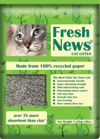 Fresh News Paper Litter 25 lbs. - must be sold with other product