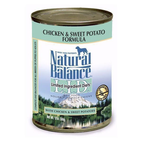 Natural Balance L.I.D. Chicken and Sweet Potato Canned Dog Formula 12 x 13 oz. cans