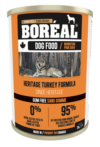 BORÉAL CANADIAN Heritage Turkey FORMULA for Dogs 12 x 13.2 oz cans