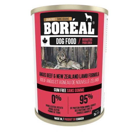 BORÉAL CANADIAN Angus beef and NZ Lamb FORMULA for dogs 12 x 13.2 oz cans
