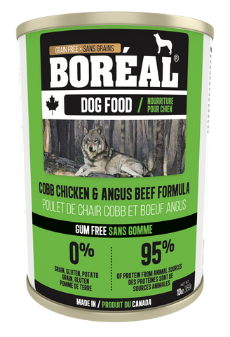 BORÉAL CANADIAN Angus Beef & COBB CHICKEN FORMULA for Dogs12 x 13.2 oz cans