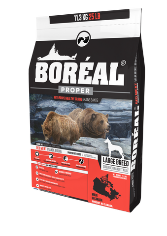 BORÉAL PROPER Red Meat MEAL LOW CARB GRAINS for dogs 25 lbs.