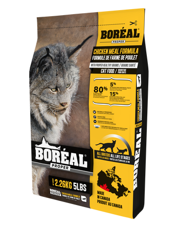 BORÉAL PROPER CHICKEN MEAL LOW CARB GRAINS for Cats 12 lbs.