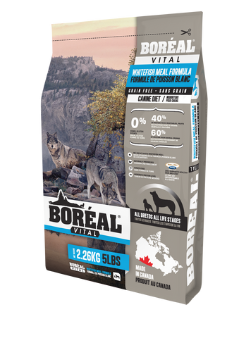 BORÉAL VITAL ALL BREED Whitefish Meal - GRAIN FREE for dogs 25 lbs.