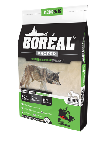 BORÉAL PROPER CHICKEN MEAL LOW CARB GRAINS for Dogs 25 lbs.