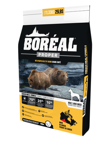 BORÉAL PROPER Large Breed Chicken Meal MEAL LOW CARB GRAINS for dogs 25 lbs.