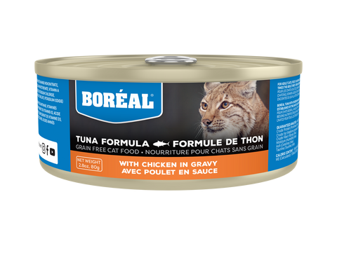 BORÉAL RED TUNA WITH CHICKEN IN GRAVY 24 x 5.5 oz cans
