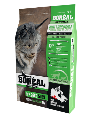 BOREAL Original Turkey & Trout Grain Free for cats 12 lbs.