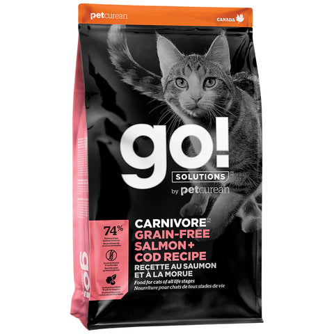 GO! Solutions Carnivore GRAIN-FREE Salmon + Cod Recipe - 16 lbs. - Naturally Urban Pet Food Delivery