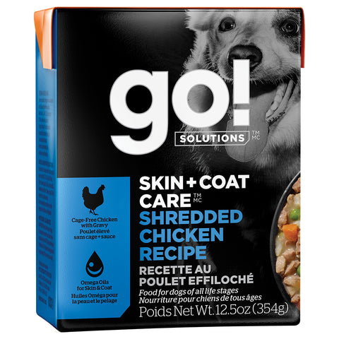 GO! Skin & Coat Shredded Chicken Pate 12/12.5OZ
