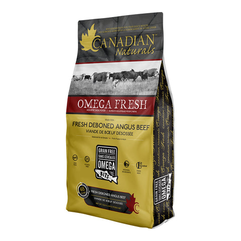 Canadian Naturals Omega Fresh Angus Beef 24 lbs. - Naturally Urban Pet Food Delivery