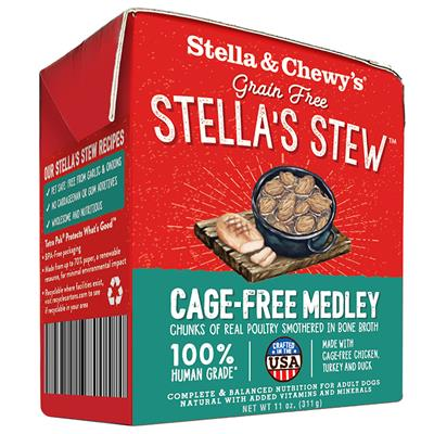 Stella & Chewy's Cage-Free Medley Wet Food 12 x 11oz packs.